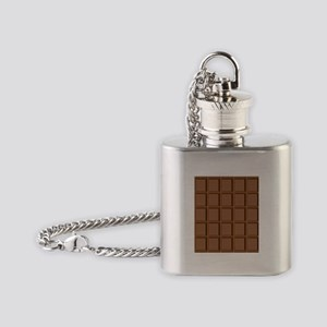 Chocolate Tiles Flask Necklace