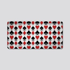 Spades Clubs Diamonds and Hearts Aluminum License