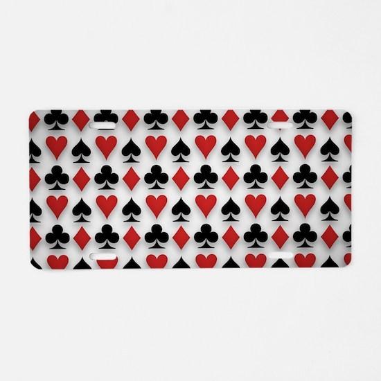 Spades Clubs Diamonds and Hearts Aluminum License