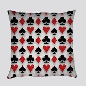 Spades Clubs Diamonds and Hearts Everyday Pillow