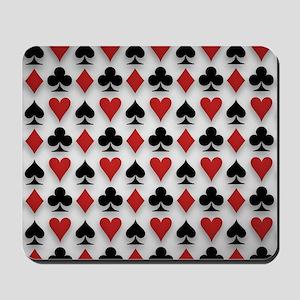 Spades Clubs Diamonds and Hearts Mousepad