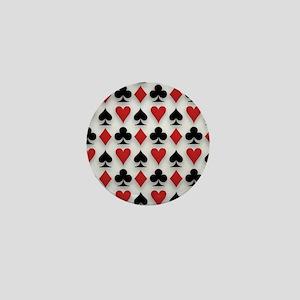 Spades Clubs Diamonds and Hearts Mini Button