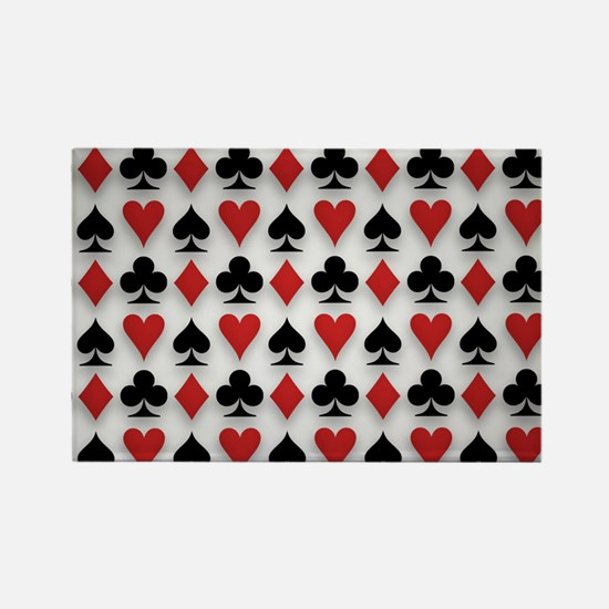 Spades Clubs Diamonds and Hearts Magnets