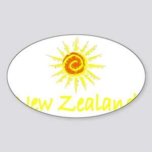 New Zealand Oval Sticker