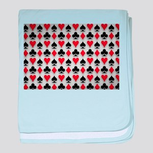 Spades Clubs Diamonds and Hearts baby blanket