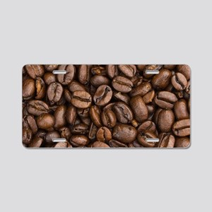 Coffee Beans Aluminum License Plate