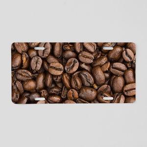 Coffee Beans Aluminum License Plate