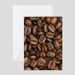 Coffee Beans Greeting Cards