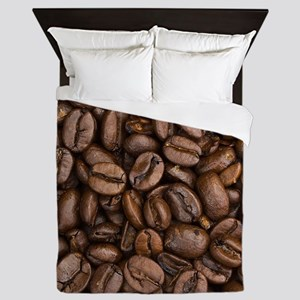 Coffee Beans Queen Duvet