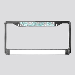 pattern from many circles shin License Plate Frame