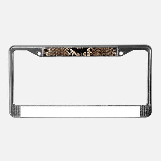 Snake Skin License Plate Frame