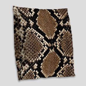 Snake Skin Burlap Throw Pillow