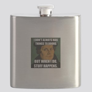 I don't always nail things to doors but when Flask