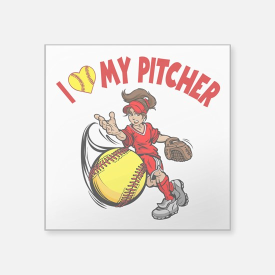 I Love My Pitcher, By Sticker