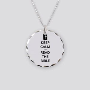 Read Bible Necklace Circle Charm