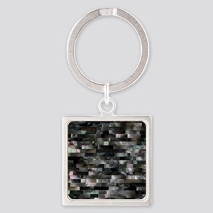 Black Mother of Pearl Keychains