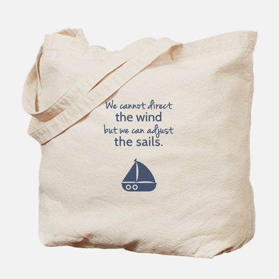 Sail Boat Positive Mindset Quote Tote Bag