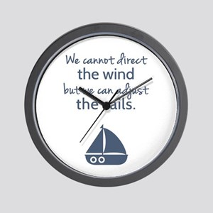 Sail Boat Positive Mindset Quote Wall Clock