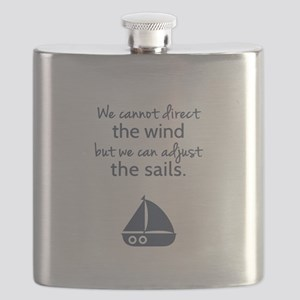 Sail Boat Positive Mindset Quote Flask