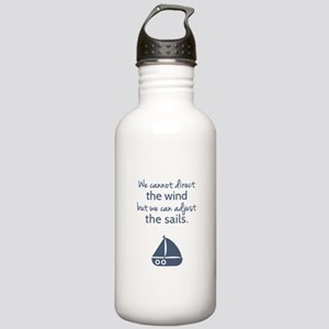 Sail Boat Positive Mindset Quote Sports Water Bott