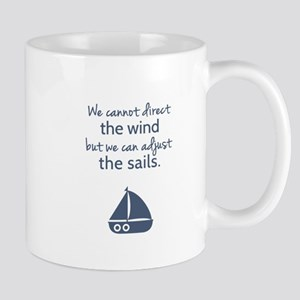 Sail Boat Positive Mindset Quote Mugs