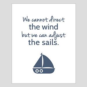 Sail Boat Positive Mindset Quote Poster Design