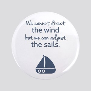 Sail Boat Positive Mindset Quote Button