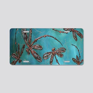 Dragonfly Flit Turquoise Bl Aluminum License Plate