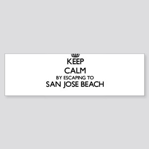 Keep calm by escaping to San Jose B Bumper Sticker