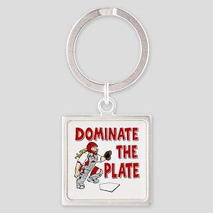 DOMINATE Square Keychain