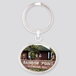 Rainbow Point sign, Bryce Canyon, Ut Oval Keychain