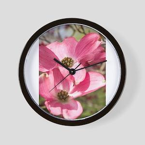 twin blossoms Wall Clock