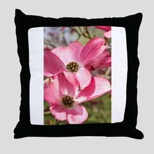 twin blossoms Throw Pillow