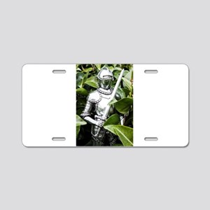 Green Knight Aluminum License Plate