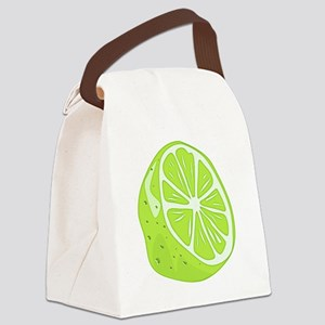 Tropical Summer Lime Canvas Lunch Bag