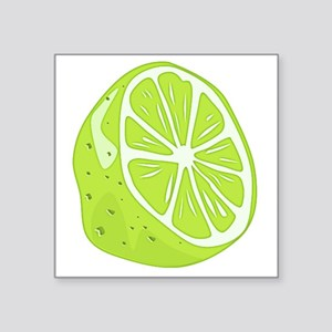 "Tropical Summer Lime Square Sticker 3"" x 3"""