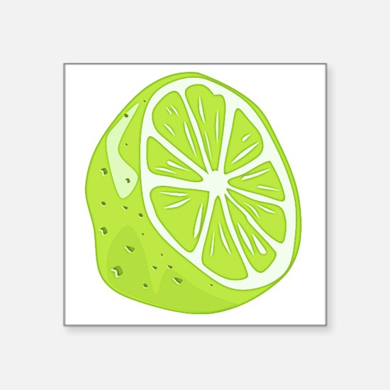"""Tropical Summer Lime Square Sticker 3"""" x 3"""""""
