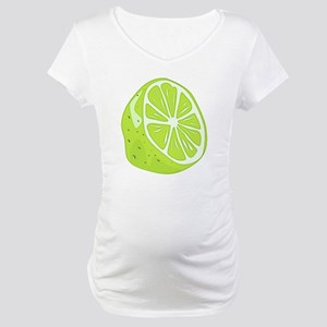 Tropical Summer Lime Maternity T-Shirt