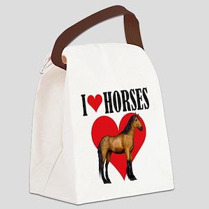 I Love Horses ~ Buckskin Canvas Lunch Bag