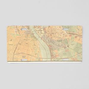 Vintage Map of Budapest Hun Aluminum License Plate