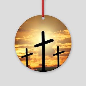 The Cross Round Ornament