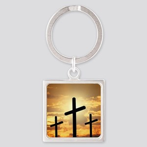 The Cross Square Keychain