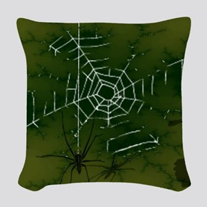 Shadows in the Night Woven Throw Pillow