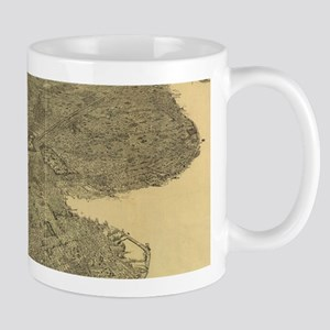 Vintage Pictorial Map of Brooklyn NY (1897) Mugs