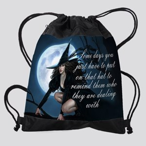 witch humor Drawstring Bag