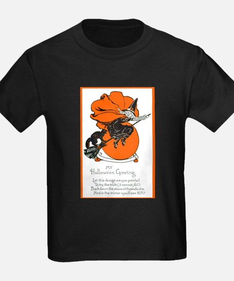 Halloween Black Cat & Witch (Front) T