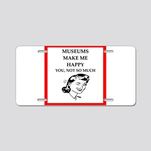 museums Aluminum License Plate