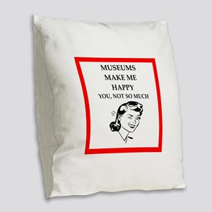 museums Burlap Throw Pillow