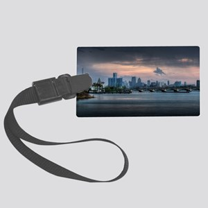 Detroit HDR Skyline Large Luggage Tag