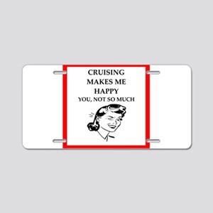 cruise Aluminum License Plate